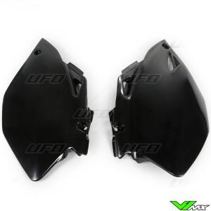 UFO Side Number Plate Black - Yamaha YZF250 YZF450