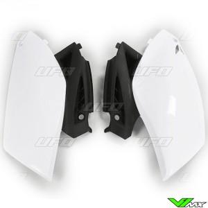 UFO Side Number Plate White - Yamaha YZF250