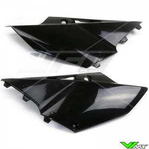 UFO Side Number Plate Black - Yamaha YZ125 YZ250
