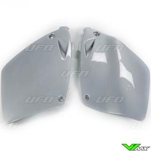 UFO Side Number Plate Silver - KTM