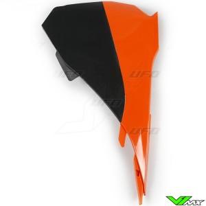 UFO Luchtfilterbakdeksel Oranje Zwart - KTM 85SX