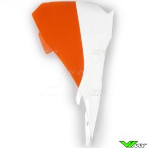 UFO Luchtfilterbakdeksel Wit Oranje - KTM 85SX