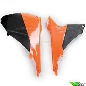 UFO Luchtfilterbakdeksel Oranje Zwart - KTM 125SX 250SX 250SX-F 350SX-F 450SX-F