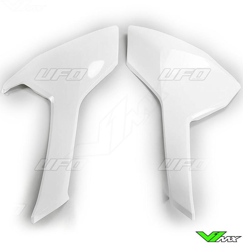 UFO Side Number Plate White - Husqvarna