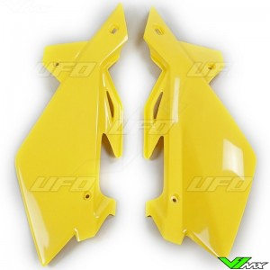 UFO Side Number Plate Yellow - Husqvarna TC250 TE250 CR125 WR125 WR250 WR300