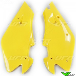 UFO Side Number Plate Yellow - Husqvarna CR125 CR250