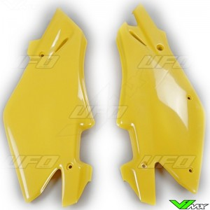 UFO Side Number Plate Yellow - Husqvarna CR125 CR250 WR125 WR250