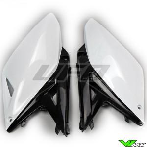 UFO Zijnummerplaten Wit Zwart - Suzuki RMZ250