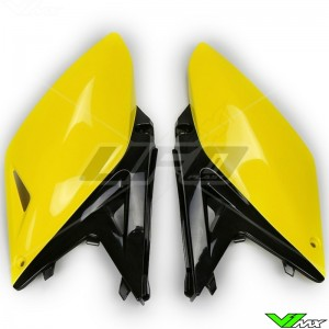 UFO Side Number Plate Yellow Black - Suzuki RMZ250