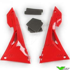 UFO Airbox Cover Red - Honda CRF250R CRF450R CRF250RX CRF450RX