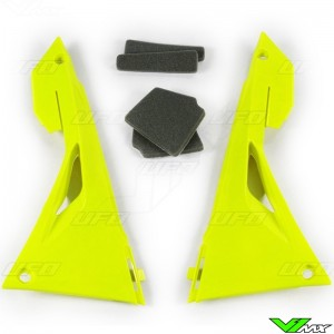 UFO Airbox Cover Fluo Yellow - Honda CRF250R CRF450R CRF250RX CRF450RX