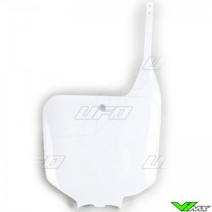 UFO Front Number Plate White - Honda CR125 CR250 CR500
