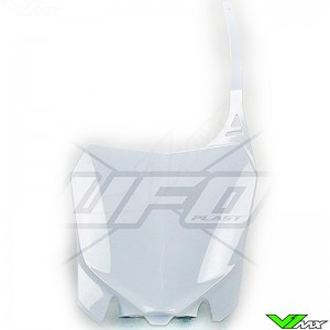 UFO Front Number Plate White - Honda CRF250R CRF450R