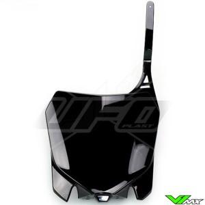 UFO Front Number Plate Black - Honda CRF250R CRF450R