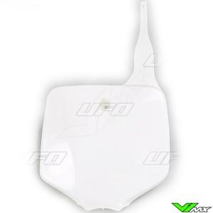 UFO Front Number Plate White - Kawasaki KX65 KLX110
