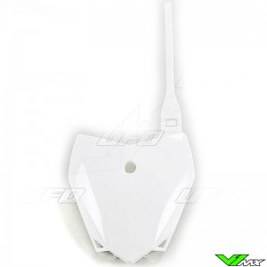 UFO Front Number Plate White - Kawasaki KLX110