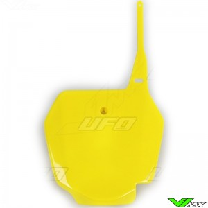 UFO Front Number Plate Yellow - Suzuki RM85