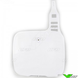 UFO Front Number Plate White - Yamaha YZ125 YZ250 YZ490