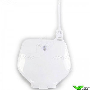 UFO Front Number Plate White - Yamaha YZ125 YZ250 YZF400