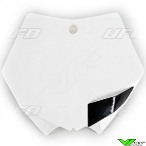 UFO Front Number Plate White - KTM 125SX 144SX 150SX 250SX 520SX 525SX 250SX-F 350SX-F 450SX-F 505SX-F