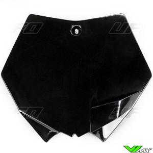 UFO Front Number Plate Black - KTM 125SX 144SX 150SX 250SX 520SX 525SX 250SX-F 350SX-F 450SX-F 505SX-F