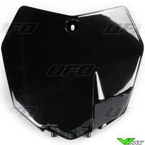 UFO Front Number Plate Black - KTM 125SX 150SX 250SX 250SX-F 350SX-F 450SX-F