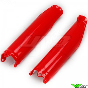 UFO Lower Fork Guards Red - Honda CRF250R CRF450R