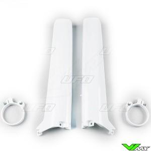 UFO Lower Fork Guards White - Suzuki RM125 RM250