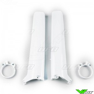UFO Voorvorkbeschermers Wit - Suzuki RM125 RM250