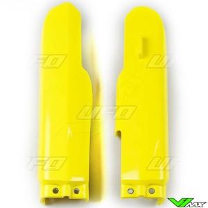 UFO Voorvorkbeschermers Geel - Suzuki RM85