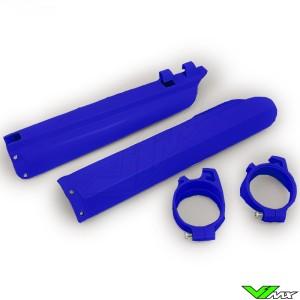 UFO Lower Fork Guards Blue - Yamaha YZ125 YZ250 YZF250 YZF400 YZF426 YZF450 WR250F WR400F WR426F WR450F