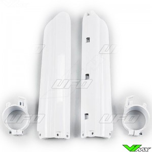 UFO Lower Fork Guards White - Yamaha YZ125 YZ250