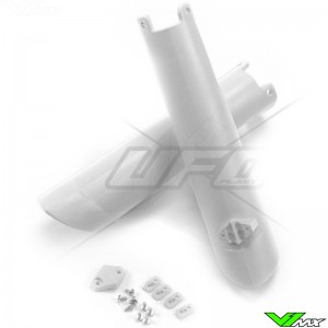 UFO Lower Fork Guards White - Husqvarna