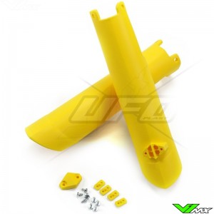 UFO Lower Fork Guards Yellow - Husqvarna