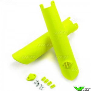 UFO Lower Fork Guards Fluo Yellow - Husqvarna