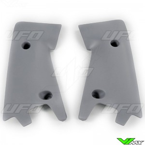 UFO Lower Radiator Shrouds Grey - Husqvarna CR125 CR125 CR250 CR250 WR125 WR250