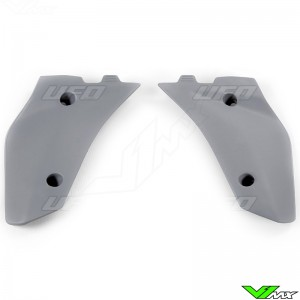 UFO Lower Radiator Shrouds Grey - Husqvarna CR125 WR125 WR250 WR300