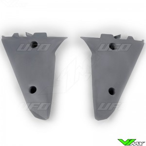 UFO Lower Radiator Shrouds Grey - Husqvarna TC250 TC510 TE250 TE510 TE610
