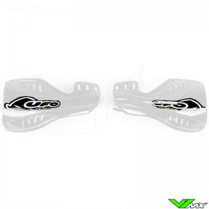 UFO Handguards White - Honda CR125 CR250