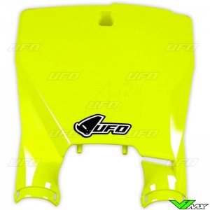 UFO Stadium Front Number Plate Fluo Yellow - Husqvarna FC250 FC350 FC450 TC125 TC250