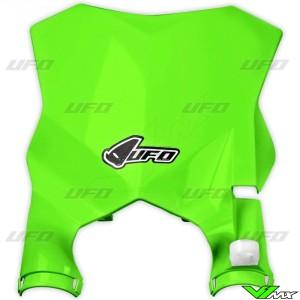UFO Stadium Front Number Plate Fluo Green - Kawasaki KXF250 KXF450