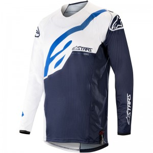 Alpinestars Techstar Factory 2019 Cross Shirt - Wit / Donker Navy