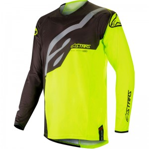 Alpinestars Techstar Factory 2019 Cross Shirt - Zwart / Fluo Geel