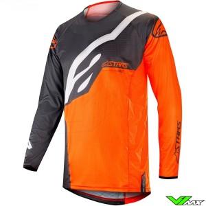 Alpinestars Techstar Factory 2019 Cross Shirt - Anthracite / Fluo Oranje