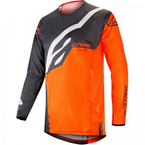 Alpinestars Techstar Factory 2019 Cross Shirt - Anthracite / Fluo Oranje