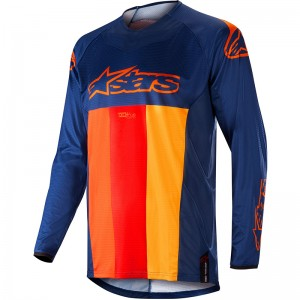 Alpinestars Techstar Venom 2019 Cross Shirt - Donker Blauw / Rood / Tangerine