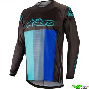 Alpinestars Techstar Venom 2019 Cross Shirt - Zwart / Turquoise / Blauw