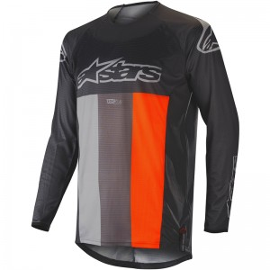 Alpinestars Techstar Venom 2019 Cross Shirt - Anthracite / Grijs / Fluo Oranje