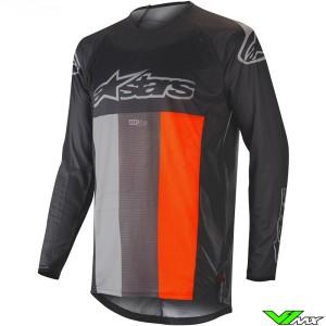 Alpinestars Techstar Venom 2019 Cross Shirt - Anthracite / Grijs / Fluo Oranje