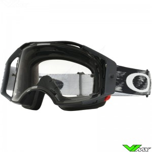 Oakley Airbrake MX Crossbril Jet Speed Zwart - Clear Lens